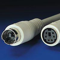 ROLINE 11.01.5660 :: PS/2 M/F, 6.0 м, ATX, монолитен, удължителен кабел