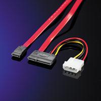 ROLINE 11.03.1250 :: SATA 150 Mbps кабел за данни с накрайник за захранване