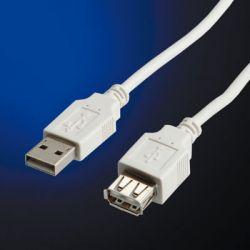VALUE 11.99.8946 :: USB 2.0 кабел, Type A, M/F, 0.8 м