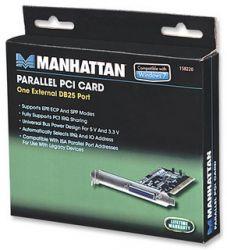 MANHATTAN 158220 :: Контролер PCI 1x DB25 LPT