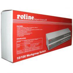"""ROLINE 21.14.3128 :: 24-портов 10/100 Mbps комутатор, RS-124R, 24x RJ-45, 19"""" RM метален корпус"""