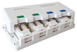 EXCEL EXL100-007 :: Кутия за външен монтаж Cat 6, два порта, бяла
