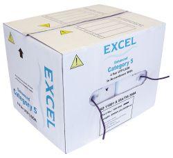 EXCEL EXL100-066 :: Cat. 5e UTP кабел, LSOH, виолетов, 305.0 м, в кутия
