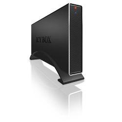 RAIDSONIC IB-318StUS2-B :: Външна алуминиева кутия за 3.5'' SATA хард диск, с USB 2.0 и eSATA combo