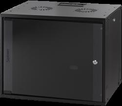 MIRSAN MR.WTC12U50.01 :: Сървърен шкаф за мрежово оборудване - 540 x 570 x 500 мм, D=500 мм / 12U, Черен, за стена, ComboBox