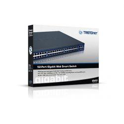 TRENDnet TEG-2248WS :: 48-Port 10/100Mbps Web Smart Switch w/ 4 Gigabit Ports and 2 Mini-GBIC Slots