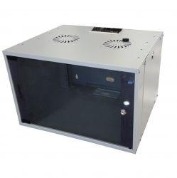 MIRSAN MR.WTC07U45DE.02 :: Сървърен шкаф за мрежово оборудване - 540 x 350 x 450 мм, D=450 мм / 7U, бял, за стена, Разглобен