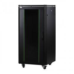 MIRSAN MR.GTAP12U61.01 :: Сървърен шкаф - 600 x 1000 x 719 мм / 42U, D=1000 мм, 600 кг товар, черен, свободно стоящ, ALTER Plus