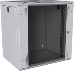 MIRSAN MR.WTC12U45DE.02 :: Сървърен шкаф за мрежово оборудване - 12U, D=450mm, W=565mm, Бял, за стена, Com-Box, Разглобен