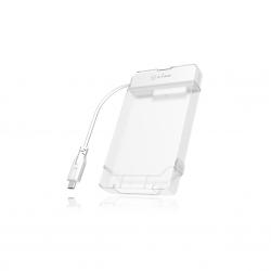 RAIDSONIC IB-AC703-C :: USB 3.0 Type-C адапторен кабел за 2.5'' SATA дискове, с калъф