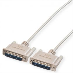 ROLINE 11.01.3518 :: RS-232 сериен кабел, D25 M/M, 1.8 м, монолитен, 25 проводника