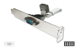 ASSMANN AK-610300-003-E :: DIGITUS Serial Slot Bracket кабел с планка, D-Sub9/M към IDC 2x 5pin/F