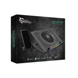 WHITE SHARK CP-33:: Охлаждаща поставка за лаптоп Ice Master, RGB, 5 вентилатора