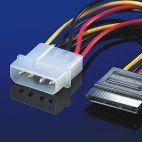 ROLINE 11.03.1055 :: SATA захранващ кабел (SATA 15-Pin към захранване)