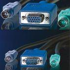 VALUE 11.99.5455 :: KVM кабел, 1x HD15 M/F, 2x PS/2 M/F, 3C+4, 3.0 м