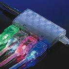 VALUE 11.99.8903 :: USB 2.0 Light кабел, син цвят, 1.8 м, тип A - B