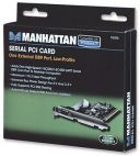 MANHATTAN 158206 :: Контролер PCI 1x 9 pin RS232 Low-Profile