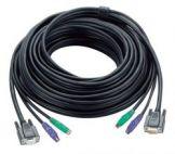 ATEN 2L-1020P/C :: KVM кабел, HD15 M + 2x PS2 M >> HD15 F + 2x PS2 M, 20.0 м