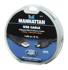 MANHATTAN 390347 :: Кабел USB 2.0 B-Mini 5pin, 1.8 м, черен цвят