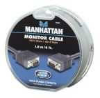 MANHATTAN 390668 :: Кабел за монитор SVGA 15M/M, 1.8 м