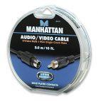 MANHATTAN 391177 :: Аудио видео кабел SVHS/RCA чинч, 3.0 м