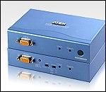 ATEN CE252L/R :: KVM екстендър, 1600 x 1200, PS2 Mouse & Keyboard, 300 m