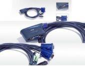 ATEN CS62U :: KVM превключвател, 2х 1, автом., USB, Audio