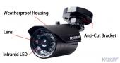 "KGUARD CW20R11-P :: Охранителна камера, 1/3"" SONY Super HAD CCD, 3.6 мм обектив, IR 15 м"