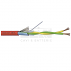 ELAN 242051R :: Alarm Cable, 2x 0.50 Twisted Pair, 400V, Ø 5.0 mm, Shielded, LSZH, 100 m, Red