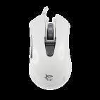 WHITE SHARK GM-1603W :: Геймърска мишка Genghis Khan, 4800dpi, бяла