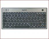 KeySonic KSK-3201 RF :: slim, wireless, super-mini keyboard with trackball