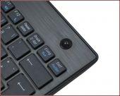 KeySonic KSK-3201 RF :: тънка, безжична, мини клавиатура с тракбол