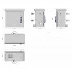 MIRSAN MR.MOB04.03 :: Шкаф за CCTV оборудване, 440 x 500 x 290 мм, IP65, двойни стени, 2 вентилатора, бял