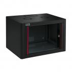 MIRSAN MR.WTE07U45.01 :: Сървърен шкаф за мрежово оборудване - 600 x 450 x 423 мм, D=450 мм / 7U, черен, за стена, Eco