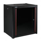 MIRSAN MR.WTN09U56.01 :: Сървърен шкаф за мрежово оборудване - 600 x 560 x 512 мм, D=560 мм / 9U, черен, за стена