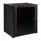 MIRSAN MR.WTN12U66.01 :: Сървърен шкаф за мрежово оборудване - 600 x 600 x 645 мм, D=600 мм / 12U, черен, за стена