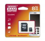 GOODRAM SDU8GHCAGRR9 :: 8 GB Micro SDHC Card with SD Adapter, Class 4