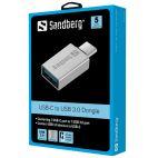 SANDBERG SNB-136-24:: Адаптер от USB Type-C към USB 3.0