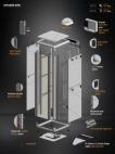 MIRSAN MR.GTV42U68.01 :: Сървърен шкаф - 42U, D=800mm, W=610mm, Черен, свободно стоящ, Versatile