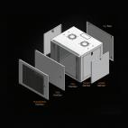 MIRSAN MR.WTC12U45.02 :: Сървърен шкаф за мрежово оборудване - 12U, D=450mm, W=565mm, Бял, за стена, Com-Box
