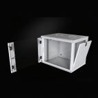 MIRSAN MR.WTC12U45.01 :: Сървърен шкаф за мрежово оборудване - 12U, D=450mm, W=565mm, Черен, за стена, Com-Box