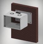 MIRSAN MR.SOH07U40DE.02 :: Сървърен шкаф за мрежово оборудване - 535x300x350мм, D=400 мм / 7U, за стена, разглобен, Бял