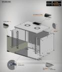 MIRSAN MR.SOH09U40DE.02 :: Сървърен шкаф за мрежово оборудване - 535x400x440 мм, D=400 мм / 9U, за стена, разглобен, Бял