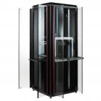 MIRSAN MR.GTV22U66.01 :: Сървърен шкаф - 22U, D=610mm, W=610mm, Черен, свободно стоящ, Versatile