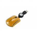 TUCANO MINI-PK-O :: Оптична мини мишка, 800 dpi, Mini Pocket Mouse, оранжев цвят