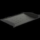 """MIRSAN MR.RAK1U30.01 :: 19"""" рафт за сървърен шкаф - 486 x 300 x 44 мм, D=300 мм, вентилиран, 2-точков монтаж, 30 кг товар, черен"""